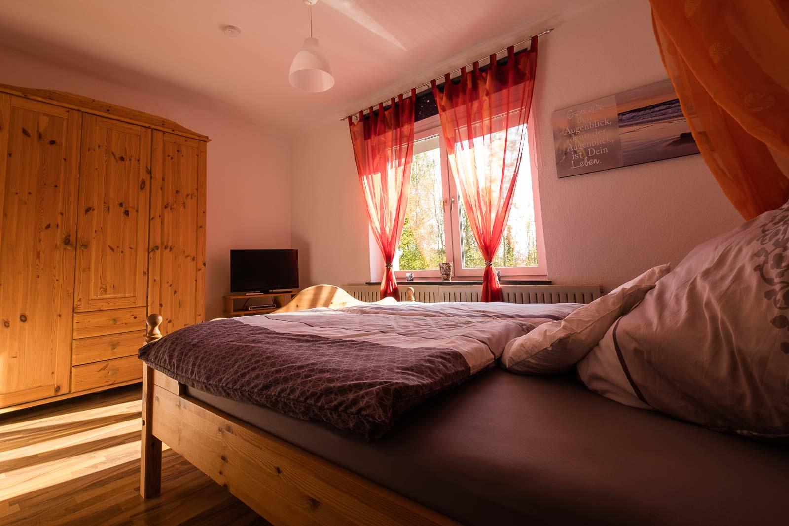 Schlafzimmer Ferienwohnung Eschwege