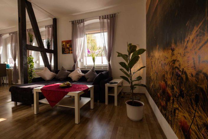 Wohnzimmer Ferienwohnung Eschwege